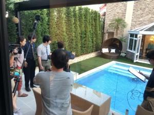 プール撮影